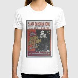 Vintage Bob Dylan Santa Barbara, California Concert Poster Limited Edition Originally 1 of 200 T-shirt