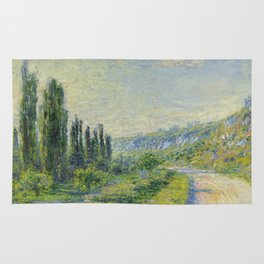 "Claude Monet ""The Road to Vétheuil"" (1880) Rug"