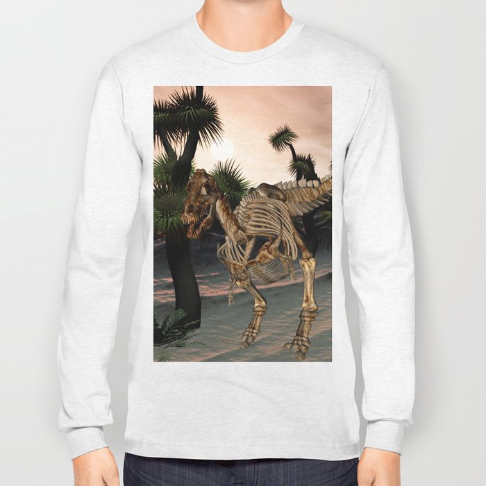 Awesome t-rex skeleton Long Sleeve T-shirt