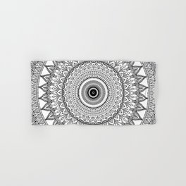 black and white mandala Hand & Bath Towel