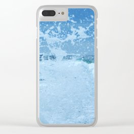 Exploding Surf Clear iPhone Case