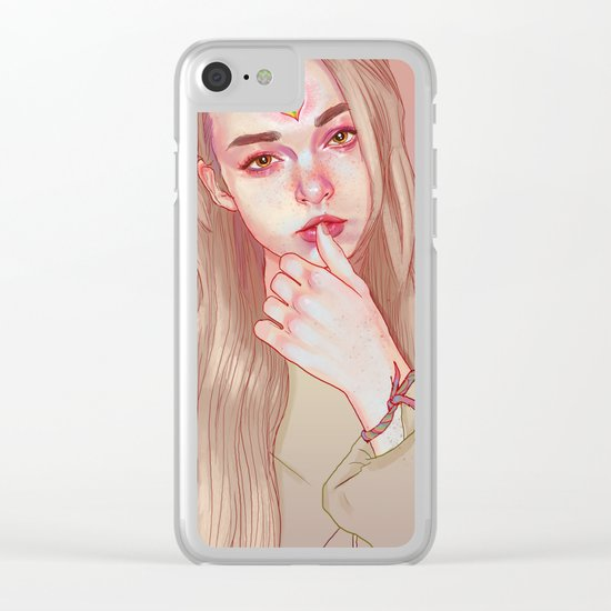 Opened third eye Clear iPhone Case