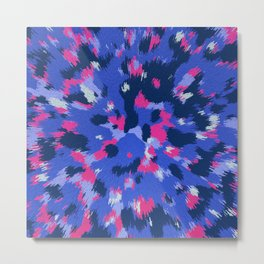 3D Abstract organic pattern Metal Print