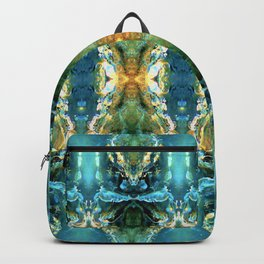 Yellow Green Blue Ice Sculptures Pattern Backpack