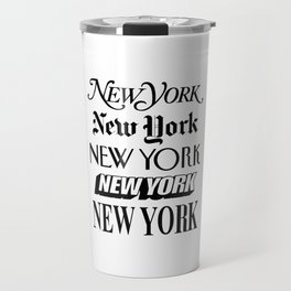 I Heart New York City Black and White New York Poster I Love NYC Design black-white home wall decor Travel Mug