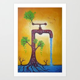 """""""Water for life"""" Art Print"""