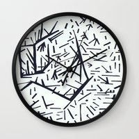 pi Wall Clocks featuring pi by Ana Vânia Fonseca