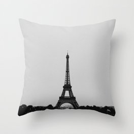 Eiffel Tower from afar Throw Pillow