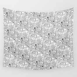 Little Escher's Building Blocks Wall Tapestry
