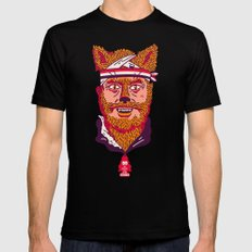 Crack Fox Black MEDIUM Mens Fitted Tee