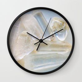 Clear Quartz Cluster Wall Clock