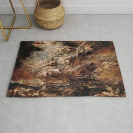 Peter Paul Rubens's The Fall of the Damned Rug