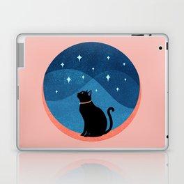 Abstraction_CAT_NIGHT_SKY_STARS_Minimalism_001 Laptop & iPad Skin