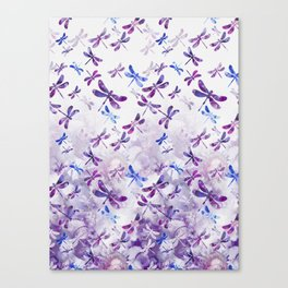 Dragonfly Lullaby in Pantone Ultraviolet Purple Canvas Print