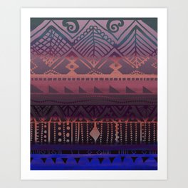 Tribal Paradise Art Print
