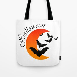 Blood bats and a bloody moon - Halloween  Design Tote Bag