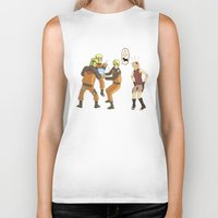 naruto Biker Tanks featuring Naruto Science by Solidus