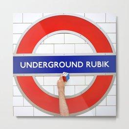 Underground Rubik Metal Print
