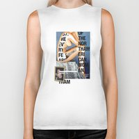 american Biker Tanks featuring The North American Woman by Matthew Billington