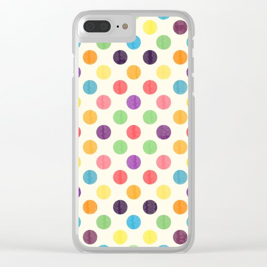 Lovely Dots Pattern II Clear iPhone Case
