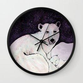 Polar Bear Pastime Wall Clock