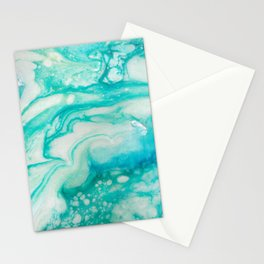 Mermaid Wake - Golden Dream Caribbean Resin Art Series by Amanacer Stationery Cards