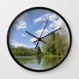 Impression Lake Wall Clock