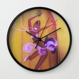 La Revue Nègre - Josephine Baker Portrait at the Théâtre des Champs-Élysées, Paris Wall Clock