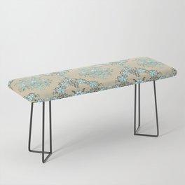 Vintage Floral - Light Blue Bench