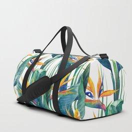 Watercolor strelitzia Duffle Bag