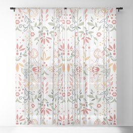 Enchanted Forest - Pastel Sheer Curtain