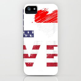 USA Indonesia Flag Heart Indonesian American Flag Shirt iPhone Case
