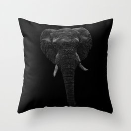 Elephant. Scribble art. Reverse Throw Pillow