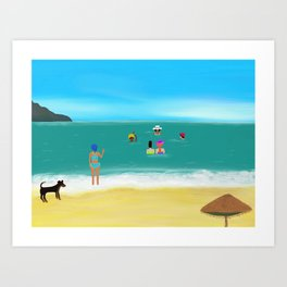 Ladies Morning Meeting in Goa, India Art Print