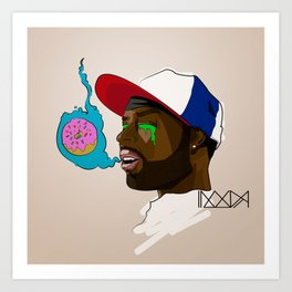 D is for Donuts Art Print