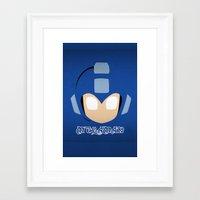 mega man Framed Art Prints featuring Mega Man by Sport_Designs
