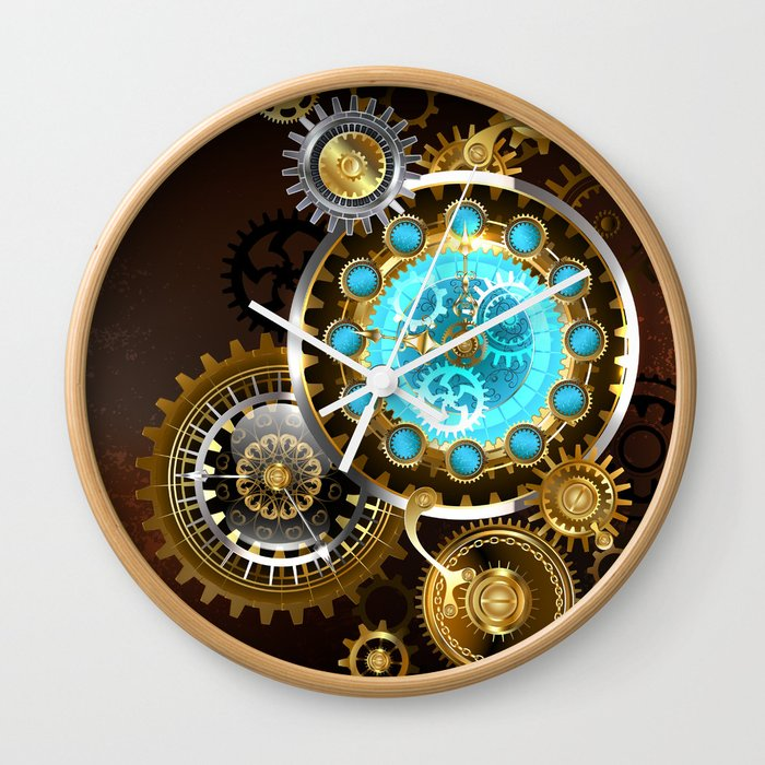 Unusual Clock With Gears Steampunk Wall Clock By Blackmoon9 Society6