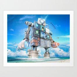 The Bitcoin Gameday Machine Art Print