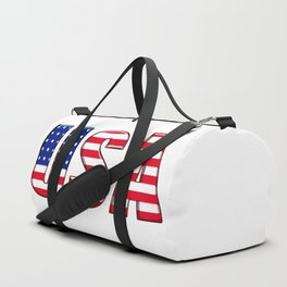 United States Font with American Flag Duffle Bag