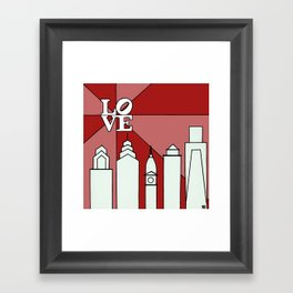 LOVEred Framed Art Print