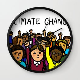 Activists Climate Change Wall Clock