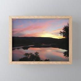 Summer Solstice Sunset Across The Big Eddy Framed Mini Art Print
