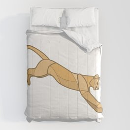 Geometric Mountain Lion / Cougar Comforters