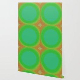 Green and Orange Fuzz Wallpaper