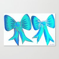 bows Canvas Prints featuring Bows by Samaa Ahmed