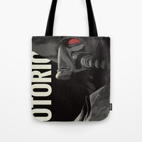 notorious Tote Bags featuring Notorious by MORPHEUS