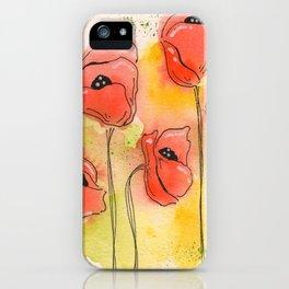 Coral Florals iPhone Case