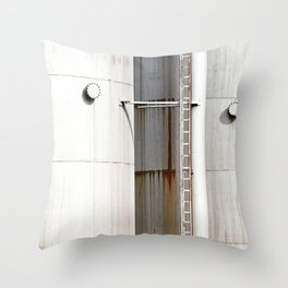 Rusting tanks Throw Pillow
