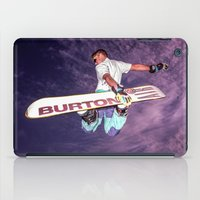 snowboarding iPad Cases featuring Snowboarding #2 by Bruce Stanfield