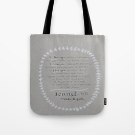 NERUDA - Sonnet 17 Tote Bag